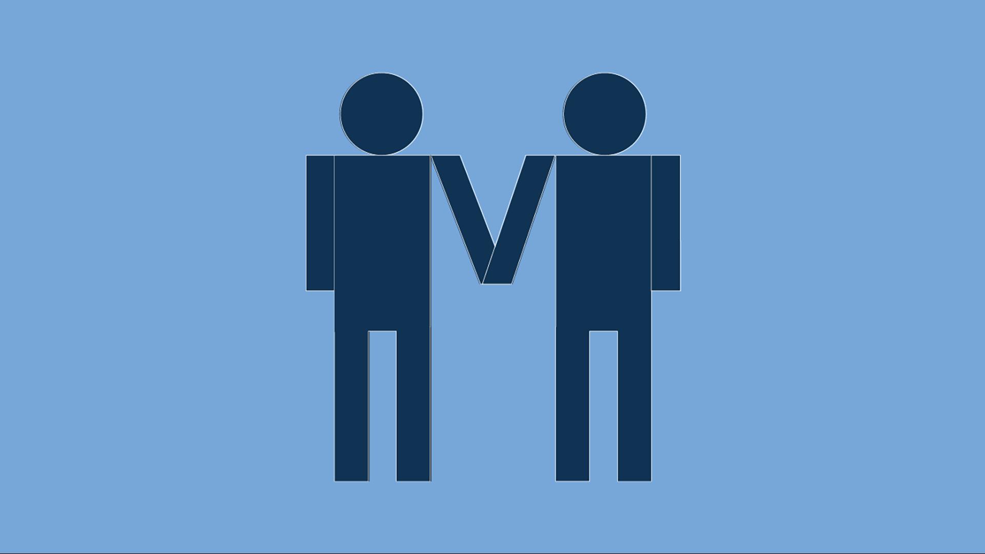 Same sex couple icon
