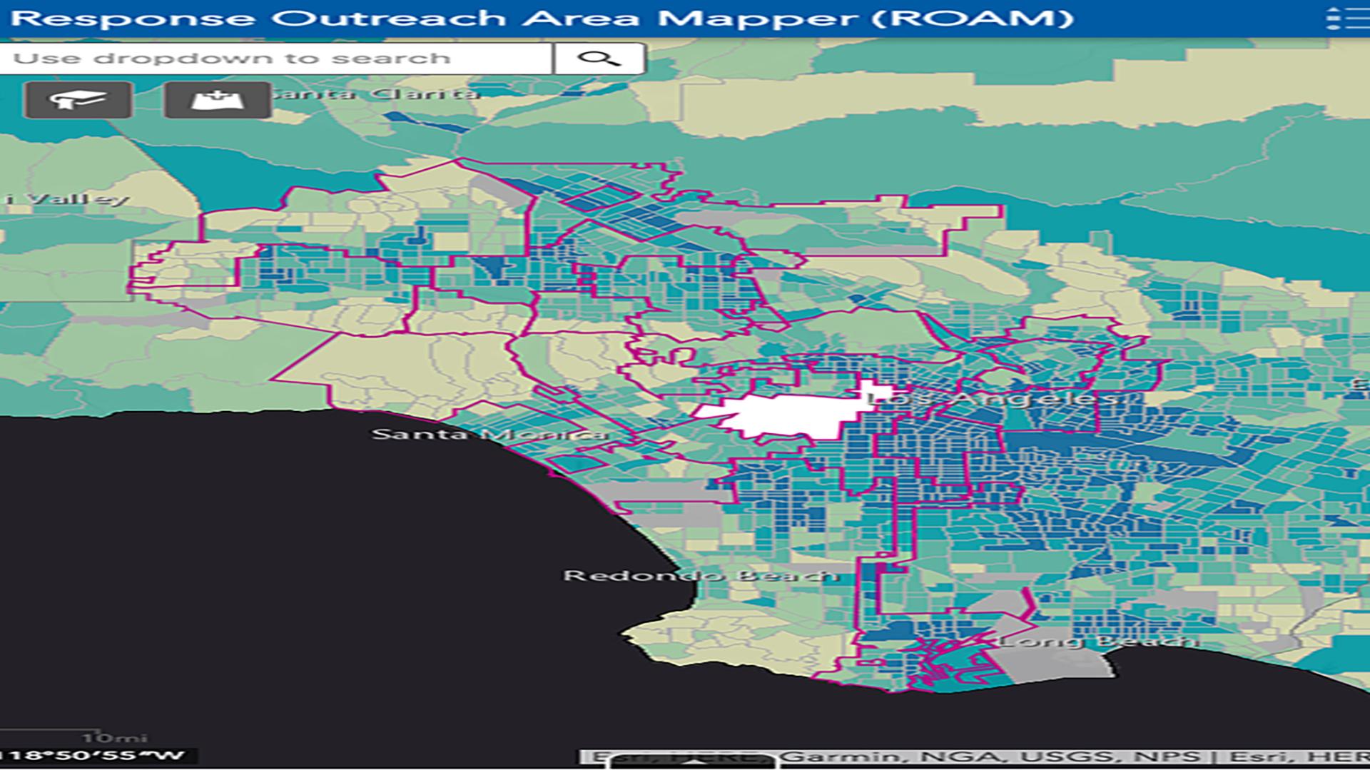 Census roam map.
